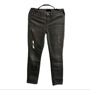 Vince Dylan Skinny Grey Distressed Jeans Size 26